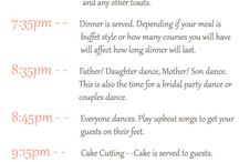 timeline for wedding