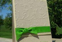Embossing Folder Cards / Ideas using embossing folders on cards