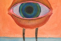 Ojos / Diego Manuel | Artist Painter Sculptor. Abstract Art Surrealism  Pop  Realism  / by Diego Manuel