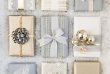 Christmas gold, silver & white