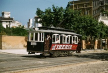 Trams in Barcelona / These beautifully evocative photos of old trams in Barcelona (courtesy of the wonderful Vintage Everyday) deserved their own board. Plus other more modern Barcelona tram images.