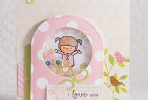 PPP: Stitched Tabs Inspiration / A board filled with inspiration using the Pretty Pink Posh die set: Stitched Tabs
