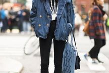 Her style / How to wear sneakers inspiration board.