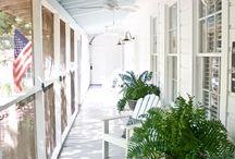 small screened porches
