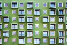 Green in architecture / Buildings, facades, interiors