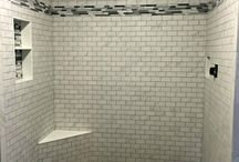 Bathroom Tile: Design and Ideas / Bathroom floor and wall tile, Bathroom Mosaic, Shower Tile, Bathroom Design, Accent Tile, Shower Floor and Wall Tile