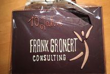 """10 Jahre Frank Gronert Consulting / """"Ich danke allen für Ihre Glückwünsche zu 10 Jahren Frank Gronert Consulting!"""""""