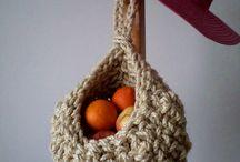 rustic crochet basket