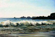 Grandes Marées / Toiles peintes sur le theme de la mer et des vagues