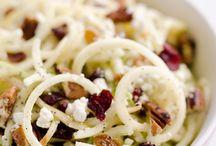 Cranberry salad spirited noodles