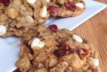 cranberries white choc cookies