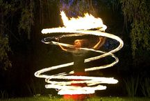 Playing with Fire / Poi, hoops, whips, fans and anything else you can spin fire with.  / by Chelsea Semiklose