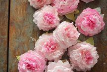 papīra ziedi