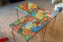 Tables with tiles