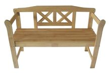 Wooden Bench Garden Outdoor 2 Seat Furniture Patio Yard Park Porch Home Hardwood