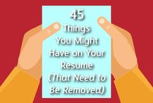 Resumes and job search letters / What does an effective eye-catching resume look like? How do you write an impressive cover letter? These tips can help answer both questions!  / by Career Services