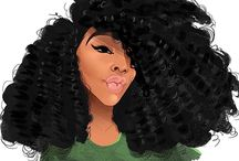 Natural hair drawings