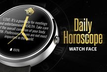 Daily Horoscope Watch Face / It is all about horoscope! Get the watch here: https://play.google.com/store/apps/details?id=eu.stettiner.horoscopewatchface