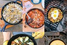 Camper Recipes / Tins full of spaghetti - the camping cooker can do more! Also during your roadtrip you have the possibility to cook with variation. Find the beste camper recipes for your tiny travel kitchen.