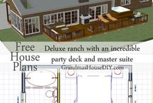 Free House Plans - Grandma's House DIY / Free house plans from Grandmas House DIY. Every plan I design is geared toward making the most affordable house possible, utilizing every last square inch of space and every single penny of a home owner's budget.