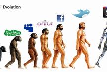 A EVOLUÇÃO HUMANA - CHARGUES