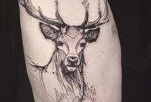 Tatuaż - Jeleń