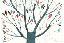 alberi illustrazioni idee