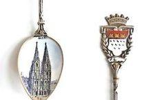 Enamel Souvenir Spoons - Vintage