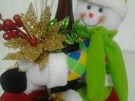 Muñecos navideños en tela