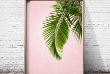 Palm leaves print