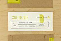 COLOUR + KRAFT {wedding stationery ideas} / Amazing combinations of colours + texture / Kraft paper // inspiration for invitations + wedding stationery