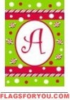 Candy Cane Monogram Flags
