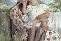 Mary Cassatt / Art. print on canvas by Mary Cassatt
