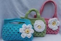 inspirace-tašky,kabelky / háčkované a pletené tašky pro děti i ženy