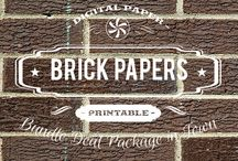 BRICK PAPERS / DIGITAL PAPERS - BRICK PAPERS BY DIGITAL PAPER SHOP
