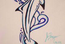 Golfinhos tatuagem