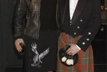 Scottish  actors in a  kilt