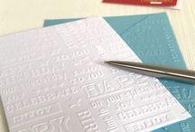 Packs of Embossed Cards