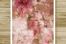 Greeting Card Printables / mothers day card, printable cards, greeting cards