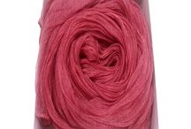 Gobge Natural Dyeing Soft Feel Silk Shawl Scarf ( Red )