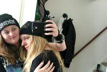 metalhead couple ♡ / just 2 metalheads loving each other ♡