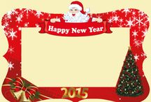 New Year Photo Frame - Photo Booth Prop / New Year Photo Frame - Photo Booth Prop Digital File 40 x 28 inch (100 x 70 cm)