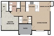 One Bedroom Apartments in Saratoga Springs, Utah / One Bedroom Apartment Floorplan