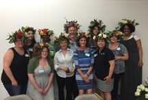 Rojahn & Malaney Flower Crown Class / Highlights from the Flower Crown and Composite Flower Class held June 10, 2015 at Rojahn and Melaney in Milwaukee WI