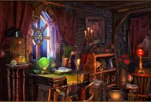 комната колдуньи