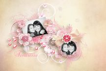 Layout at ScrapFromFrance / Page réalisées avec des kits de chez SFF  Layout made with SFF's creations / by ScrapFromFrance