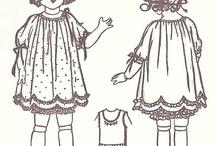 Vintage dolls / styles of dresses
