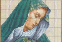 Cross stitch madonnas