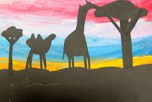 Teikning barn siluetter