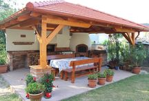 casa de campo #garden #kitchen #jardín #patio BBQ.